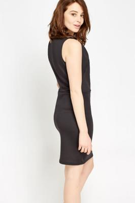 Bodycon Basic Dress XS / Viskose / Schwarz